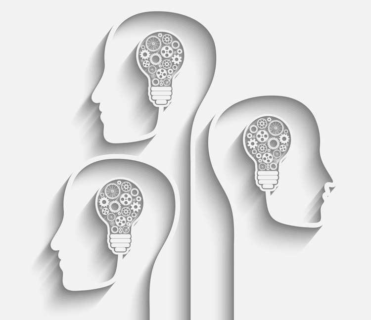 37858227 - human head creating a new idea.  vector for your design