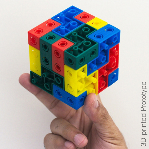 4X 3D Jigsaw Puzzle (3D-printed Prototype)